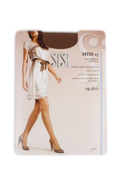 Колготки Miss 15d для девочки 52 чёрный Sisi бежевый, Италия