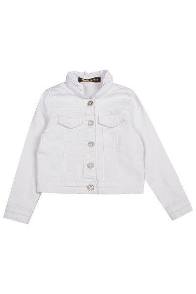 Купить Куртка, Manila Grace, Белый, Хлопок-95%, Эластан-5%, Женский
