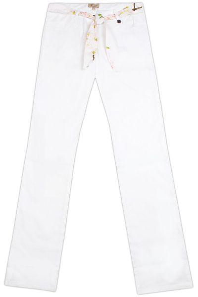 брюки silver spoon для девочки, белые