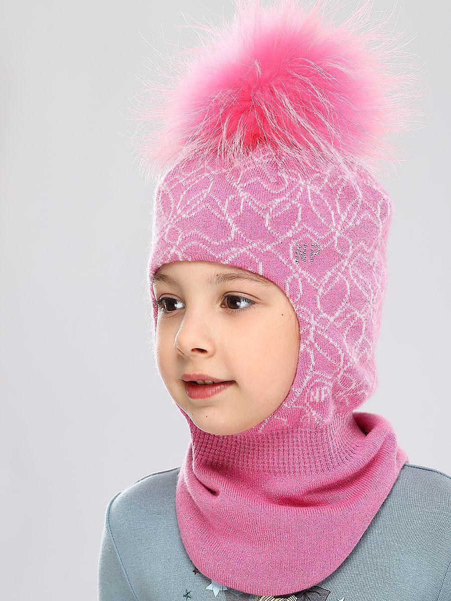 Купить Шлем, Noble People, Розовый, Шерсть-43%, Вискоза-28%, Полиамид-14%, Люрекс-8%, Кашемир-7%, Женский