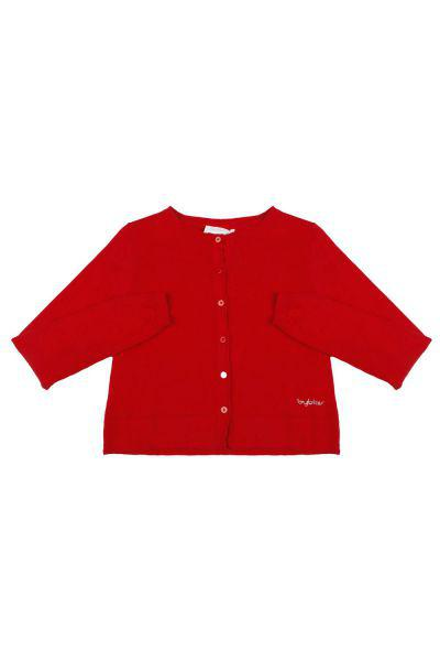 кардиган byblos для девочки, красный
