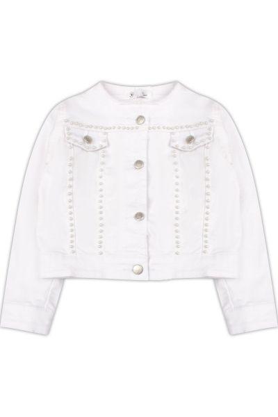 Куртка, Gaialuna, Белый, Хлопок-97%, Эластан-3%, Женский  - купить со скидкой