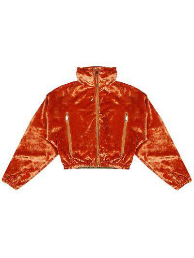 Купить Куртка, Manila Grace, Оранжевый, Полиэстер-95%, Эластан-5%, Женский