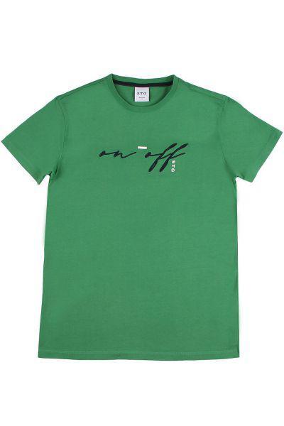 футболка street gang для мальчика, зеленая
