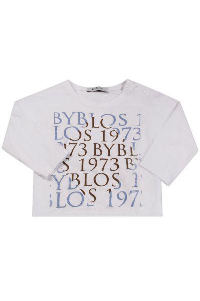 Купить Лонгслив, Byblos, Белый, Хлопок-100%, Мужской