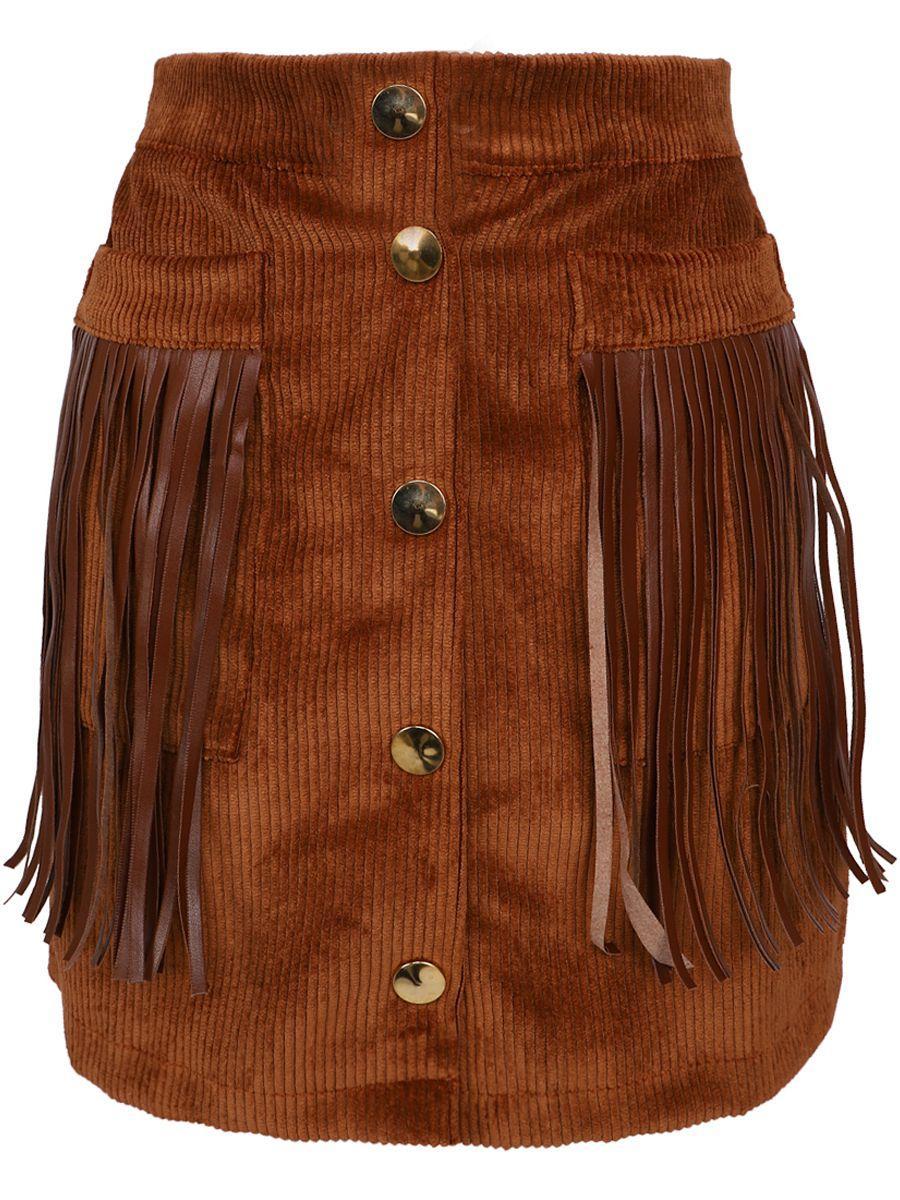 юбка y-clu' для девочки, коричневая