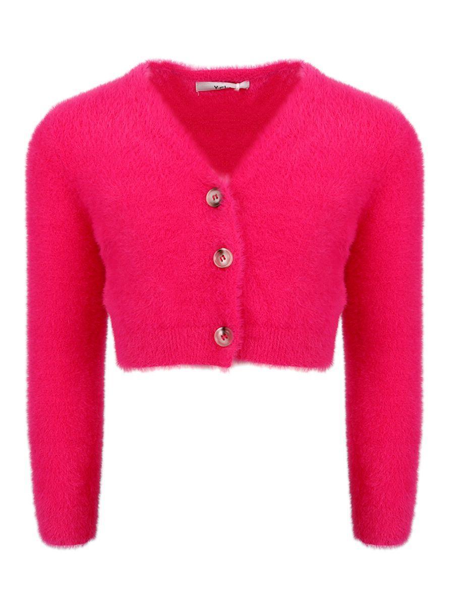 кардиган y-clu' для девочки, розовый