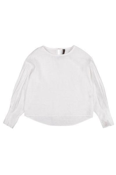 Блуза, Manila Grace, Белый, Хлопок-95%, Эластан-5%, Женский  - купить со скидкой
