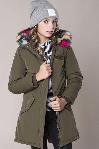 Купить Куртка, Vingino, Зеленый, Хлопок-58%, Полиэстер-42%, Женский