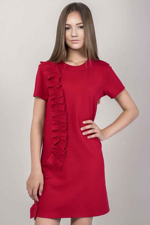 Купить Платье, Gaialuna, Красный, Рэйон-65%, Нейлон-30%, Эластан-5%, Женский