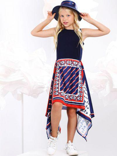 платье manila grace для девочки, синее