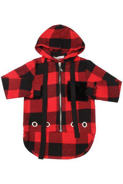 Купить Рубашка, Y-clu', Красный, Хлопок-100%, Женский