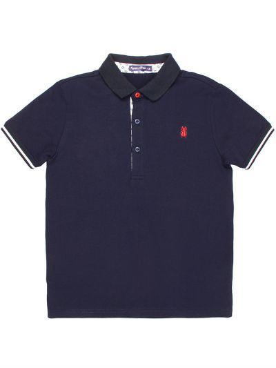 Купить Рубашка-Поло, Noble People, Синий, Хлопок-95%, Эластан-5%, Мужской