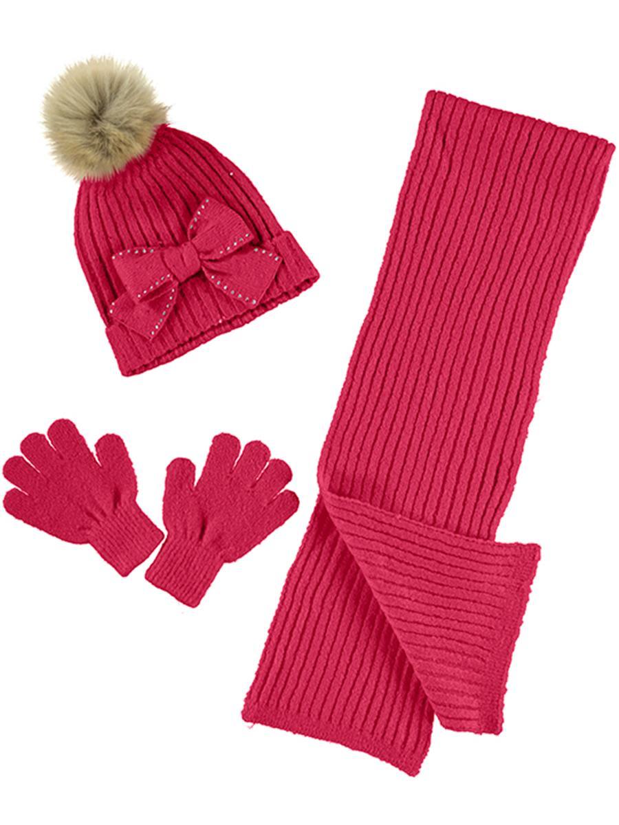 шарф mayoral для девочки, красный