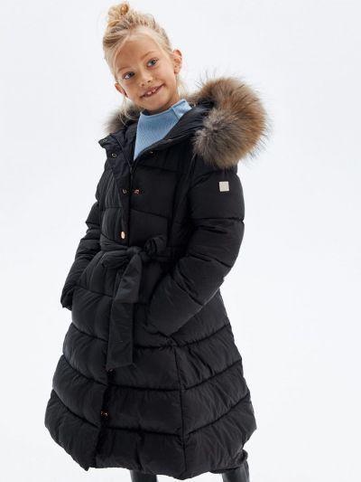 Пальто, Pulka, Черный, Нейлон-100%, Женский  - купить со скидкой