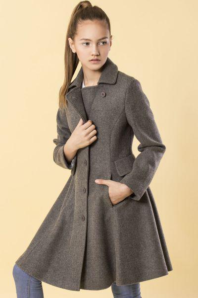 Купить Пальто, Silver Spoon, Серый, Акрил-50%, Вискоза-45%, Шерсть-5%, Женский