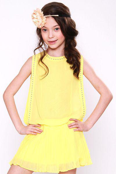 Платье для девочки GE531521 жёлтый Gaialuna, Китай (КНР)