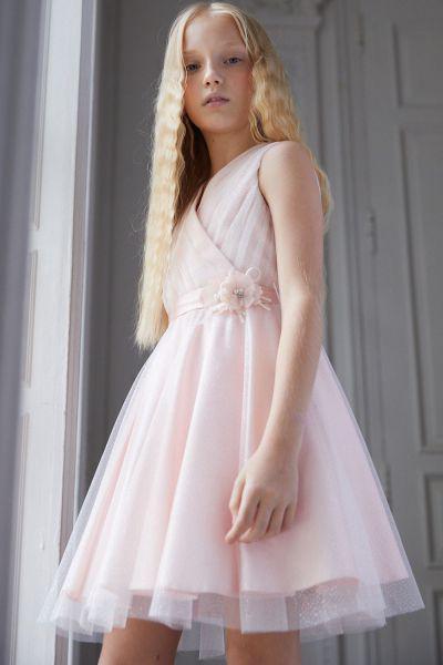Купить Платье, Silver Spoon, Розовый, Полиэстер-95%, Эластан-5%, Женский