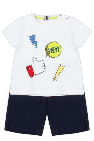 Купить Футболка+шорты, Y-clu', Разноцветный, Хлопок-100%, Мужской