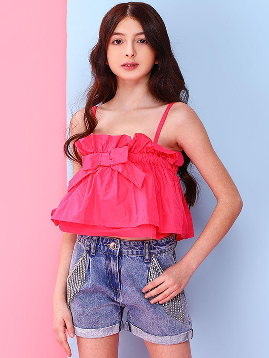 топ gaialuna для девочки, розовый