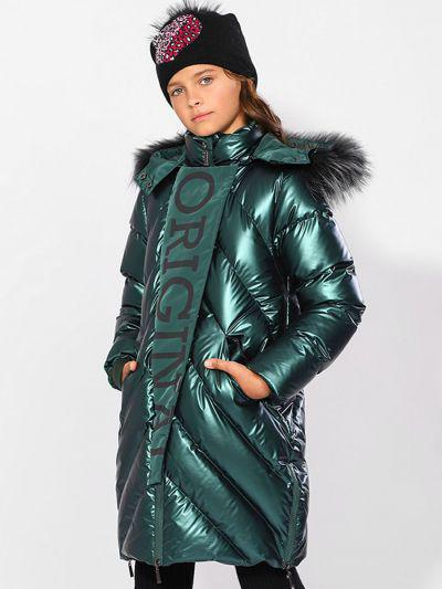 Купить Пальто, Laddobbo, Зеленый, Полиэстер-100%, Женский