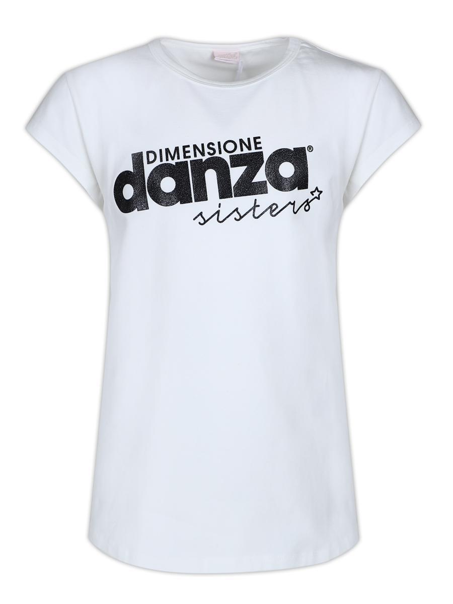футболка dimensione danza для девочки, белая