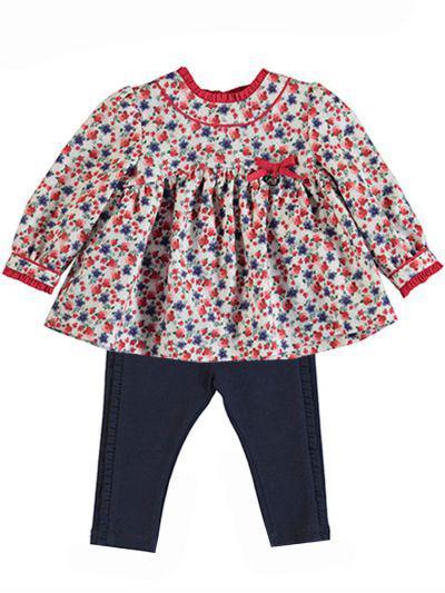 Блуза+легинсы, Mayoral, Разноцветный, Хлопок-99%, Эластан-1%, Женский  - купить со скидкой