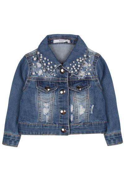 Купить Куртка, Y-clu', Синий, Хлопок-70%, Полиэстер-30%, Женский