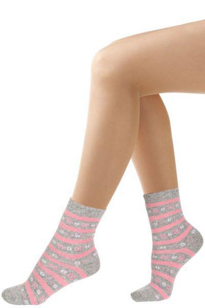 Носки для девочки SAW-13132 серый Charmante, Италия