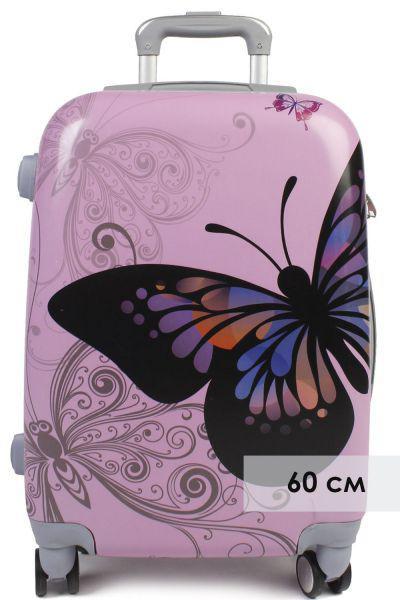 Купить Чемодан, Multibrand, Фиолетовый, UNI, Пластик-100%, Женский