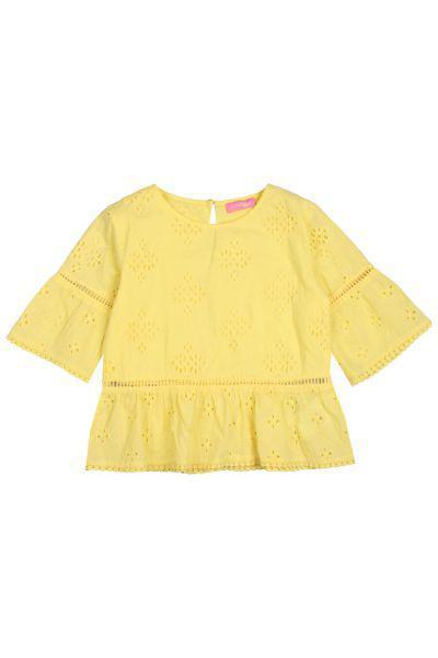 блузка gaudi для девочки, желтая