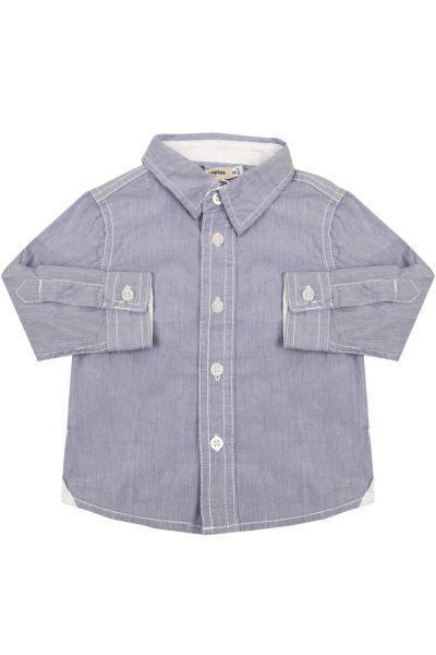 рубашка olimpias для мальчика, голубая
