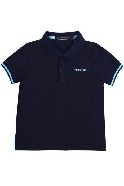 Купить Поло, Jeckerson, Синий, Хлопок-100%, Мужской