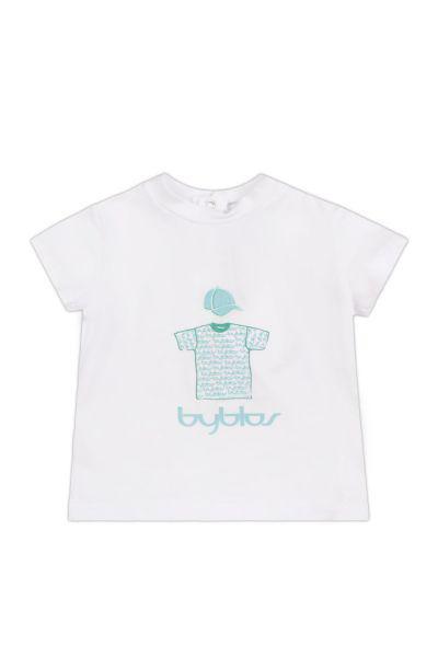 футболка byblos для мальчика, белая