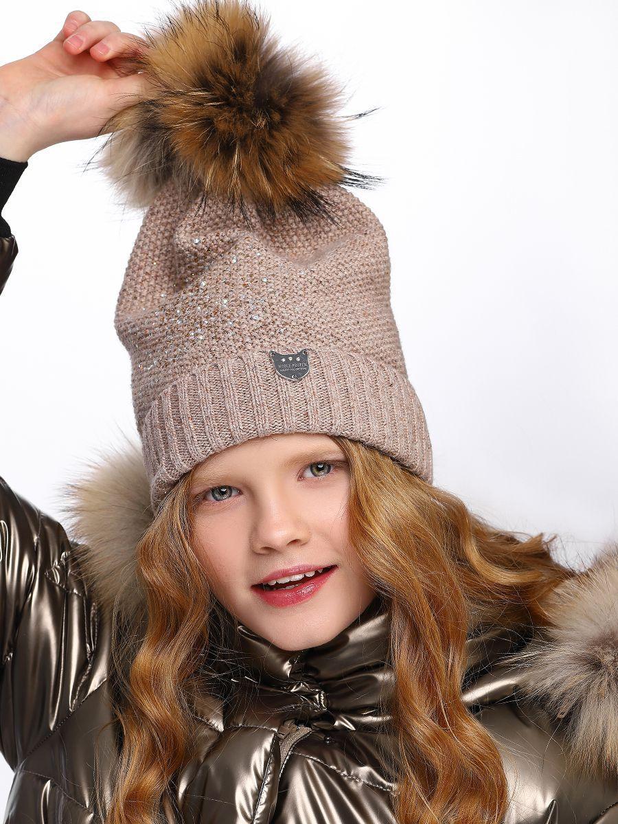 шапка noble people для девочки, бежевая