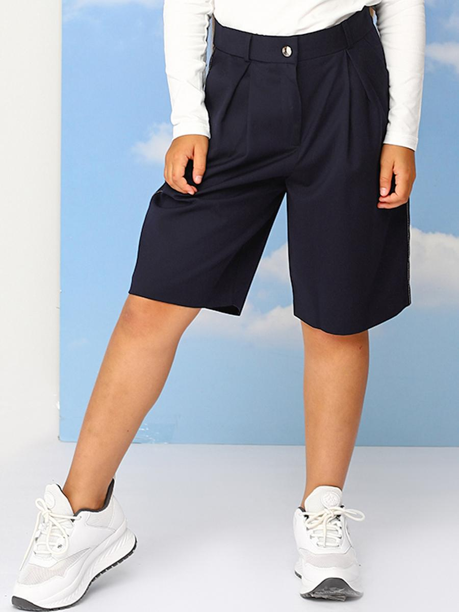 брюки кюлоты noble people для девочки, синие