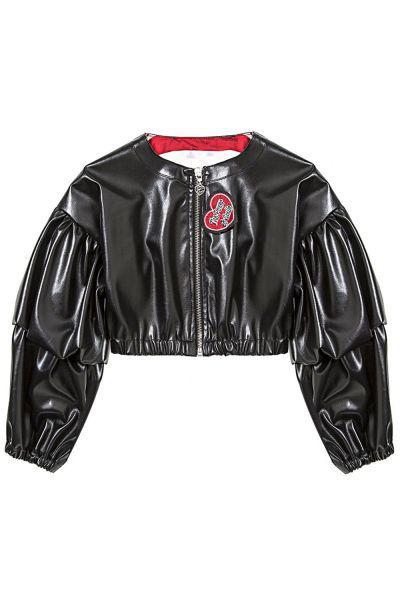 Купить Куртка, Gaialuna, Черный, Полиуретан-100%, Женский