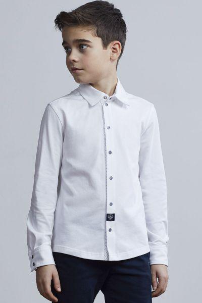 Купить Рубашка, Silver Spoon, Белый, Хлопок-90%, Эластан-10%, Мужской