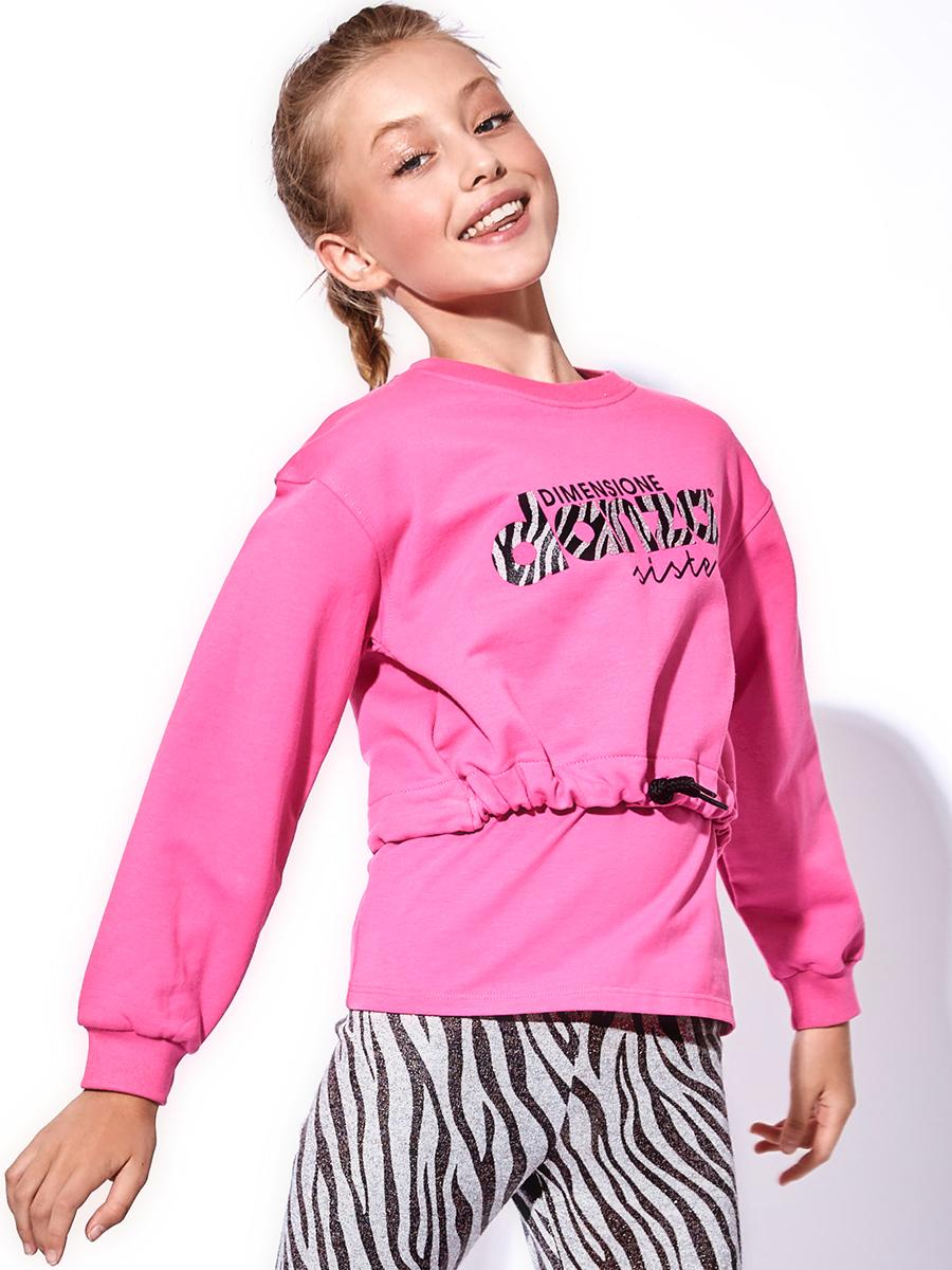 толстовка dimensione danza для девочки, розовая