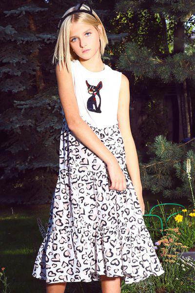 Купить Платье, Noble People, Белый, Хлопок-95%, Эластан-5%, Женский
