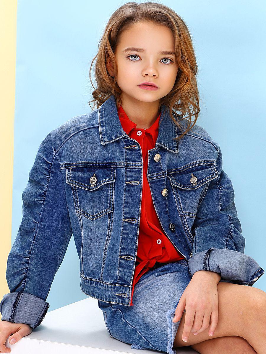 куртка gaialuna для девочки, синяя