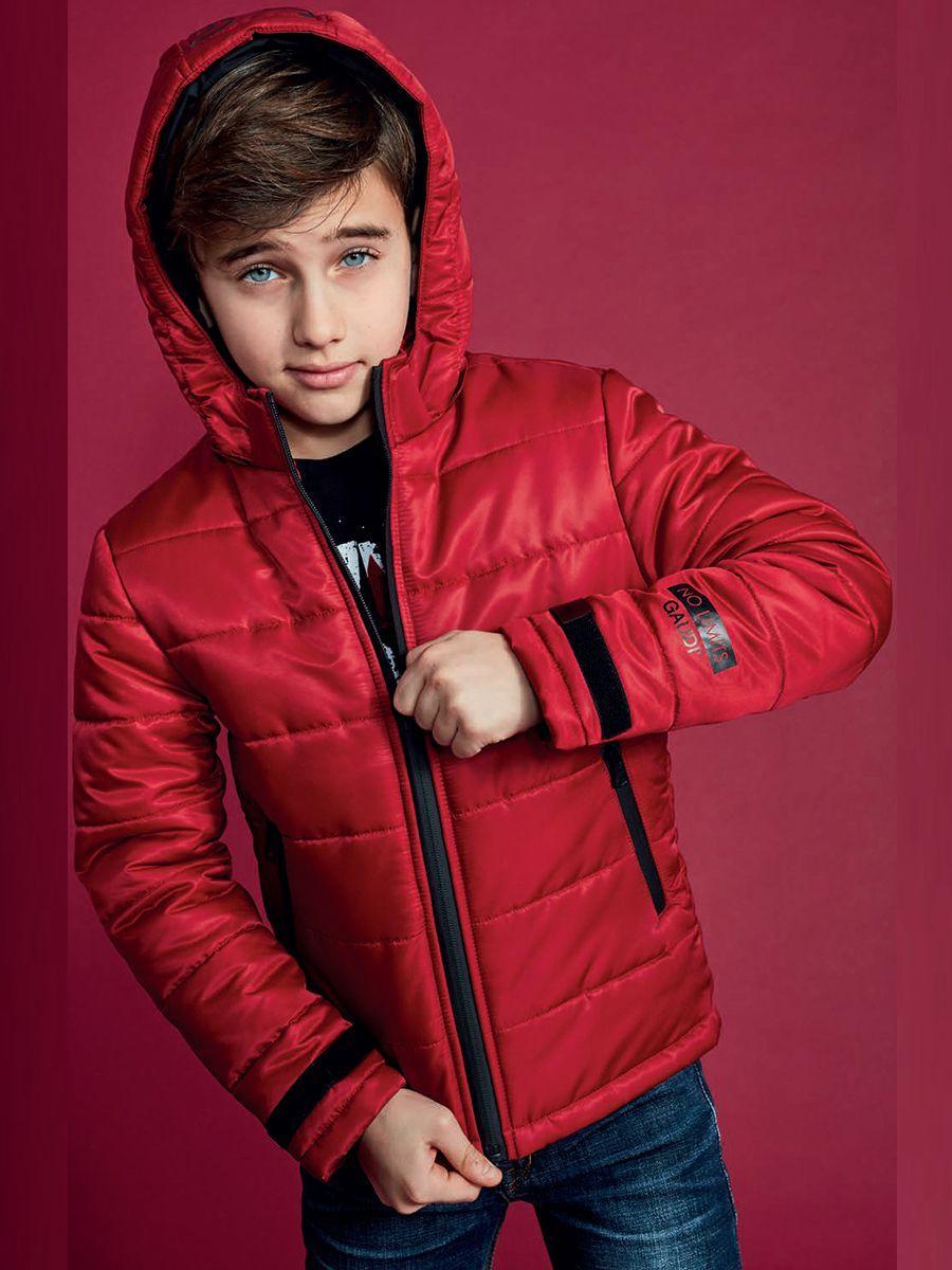 куртка gaudi для мальчика, красная