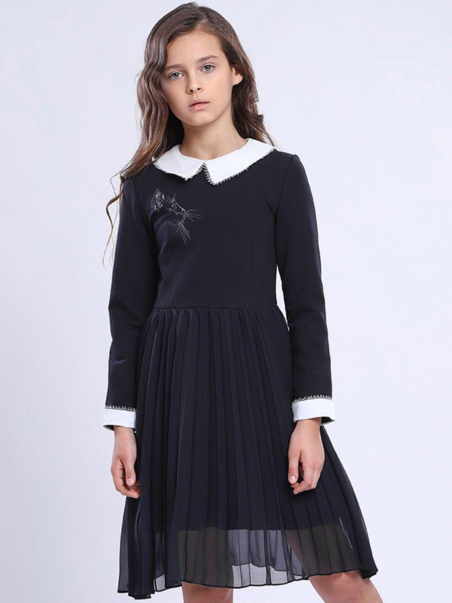 Купить Платье, Noble People, Синий, Хлопок-77%, Полиамид-18%, Эластан-5%, Женский
