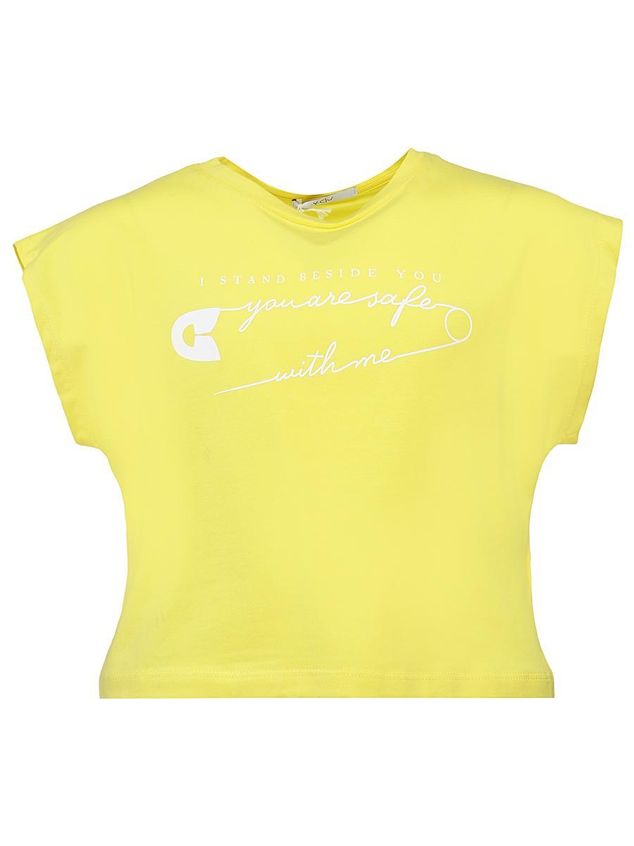 футболка y-clu' для девочки, желтая