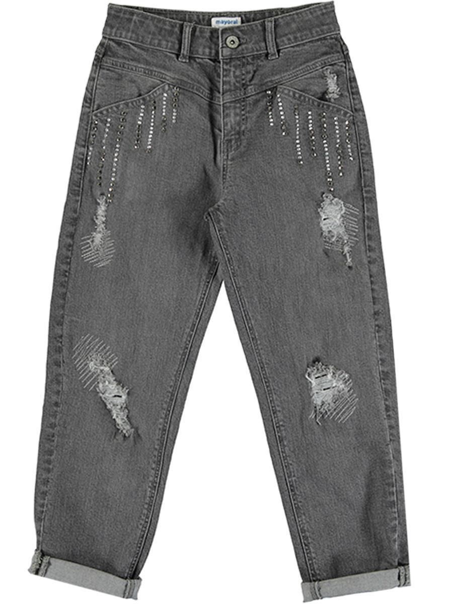 джинсы mayoral для девочки, серые