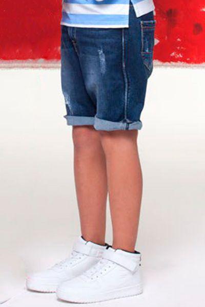 шорты y-clu' для мальчика, синие
