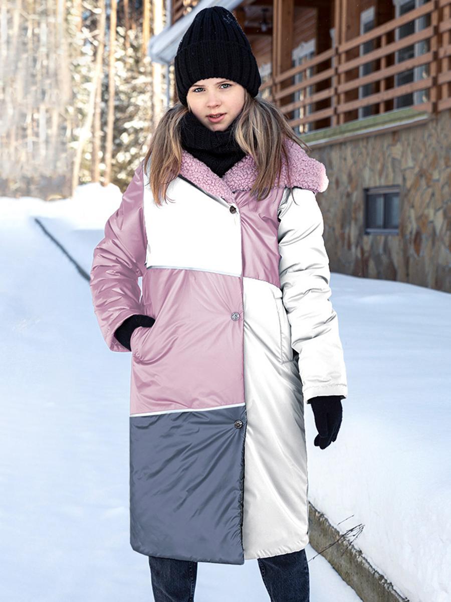 пальто nikastyle для девочки, серое