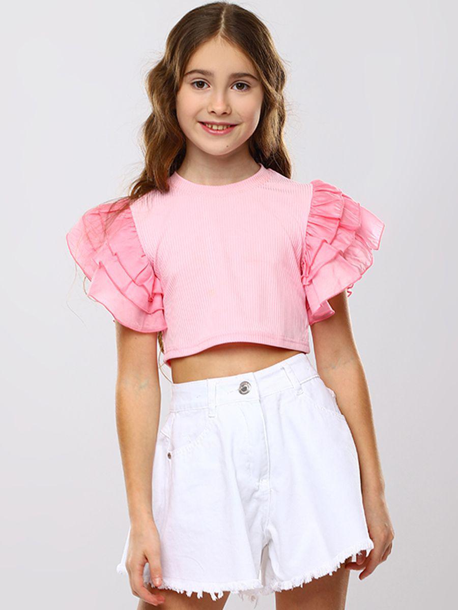 топ to be too для девочки, розовый
