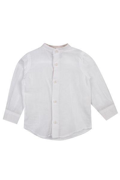 Купить Сорочка, Y-clu', Белый, Хлопок-50%, Лён-50%, Мужской