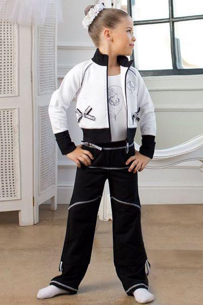 Костюм спортивный для девочки SGHK201239 белый Charmante, Италия